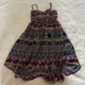 Vintage F21 HiLow Dress - Multi